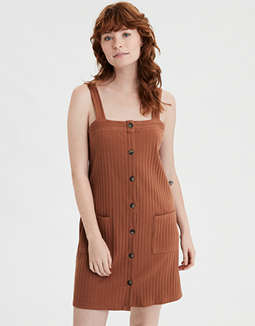 AE Square Neck Button Down Dress