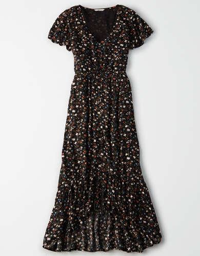 AE Printed High-Low Maxi Dress