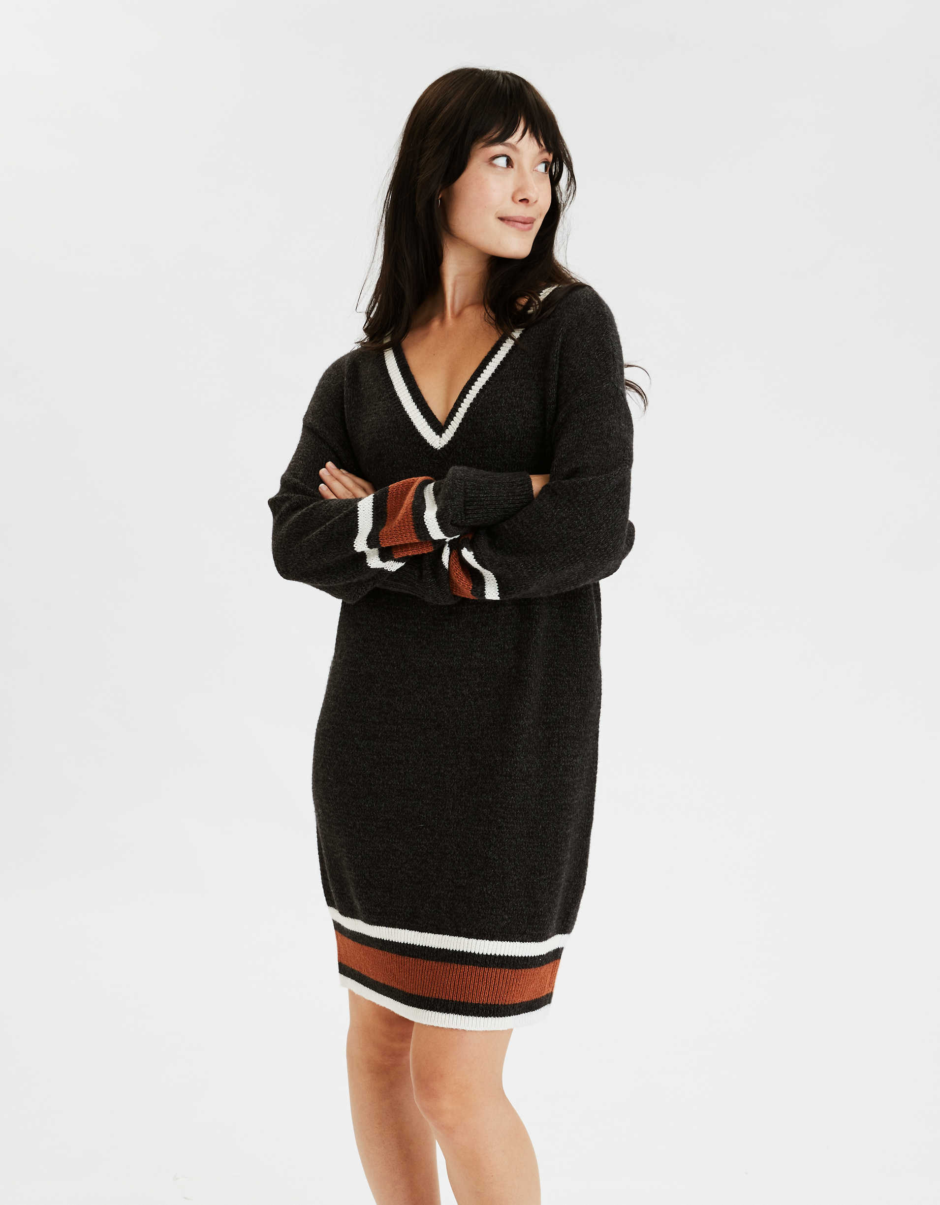 AE Varsity V-Neck Sweater Dress