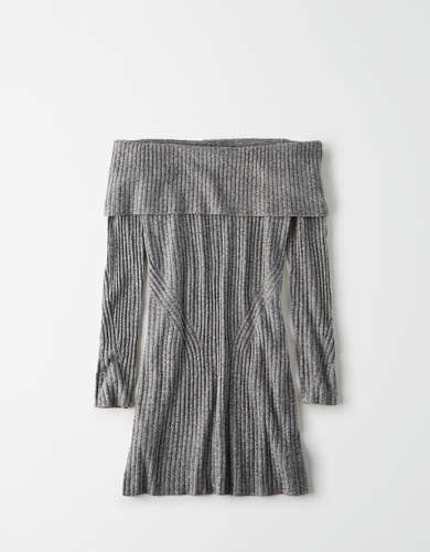 AE Off-The-Shoulder Midi Sweater Dress