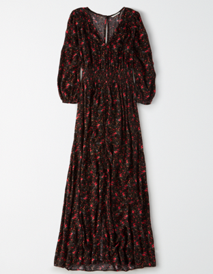 AE Smocked Waist Maxi Dress