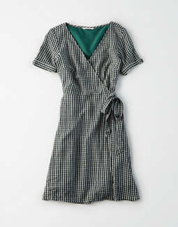76d292abad5b placeholder image AE Striped Tie Sleeve Wrap Dress ...