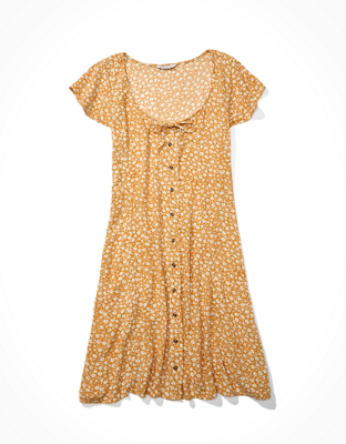 AE 버튼업 미니 드레스