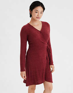 AE Knit Wrap Dress