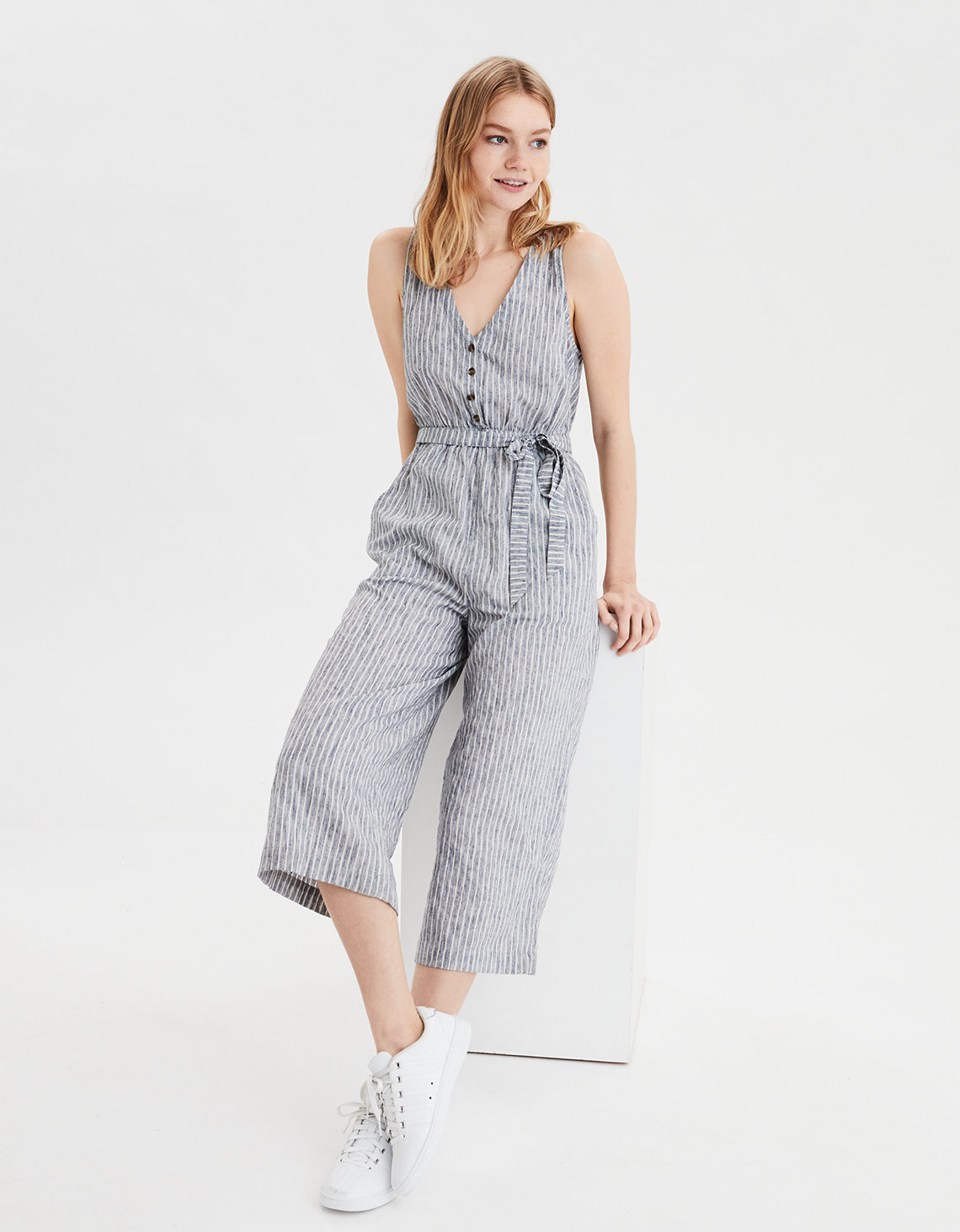 AE Button Down Jumpsuit