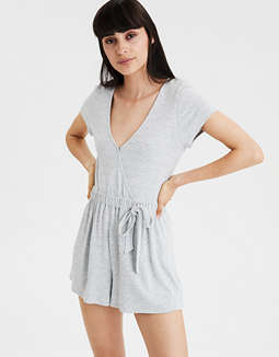AE Wrap Front Romper