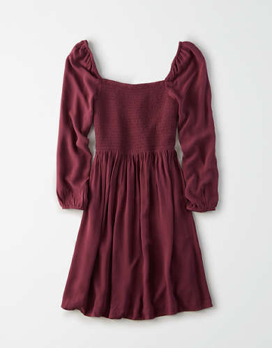 AE Smocked Long Sleeve Dress