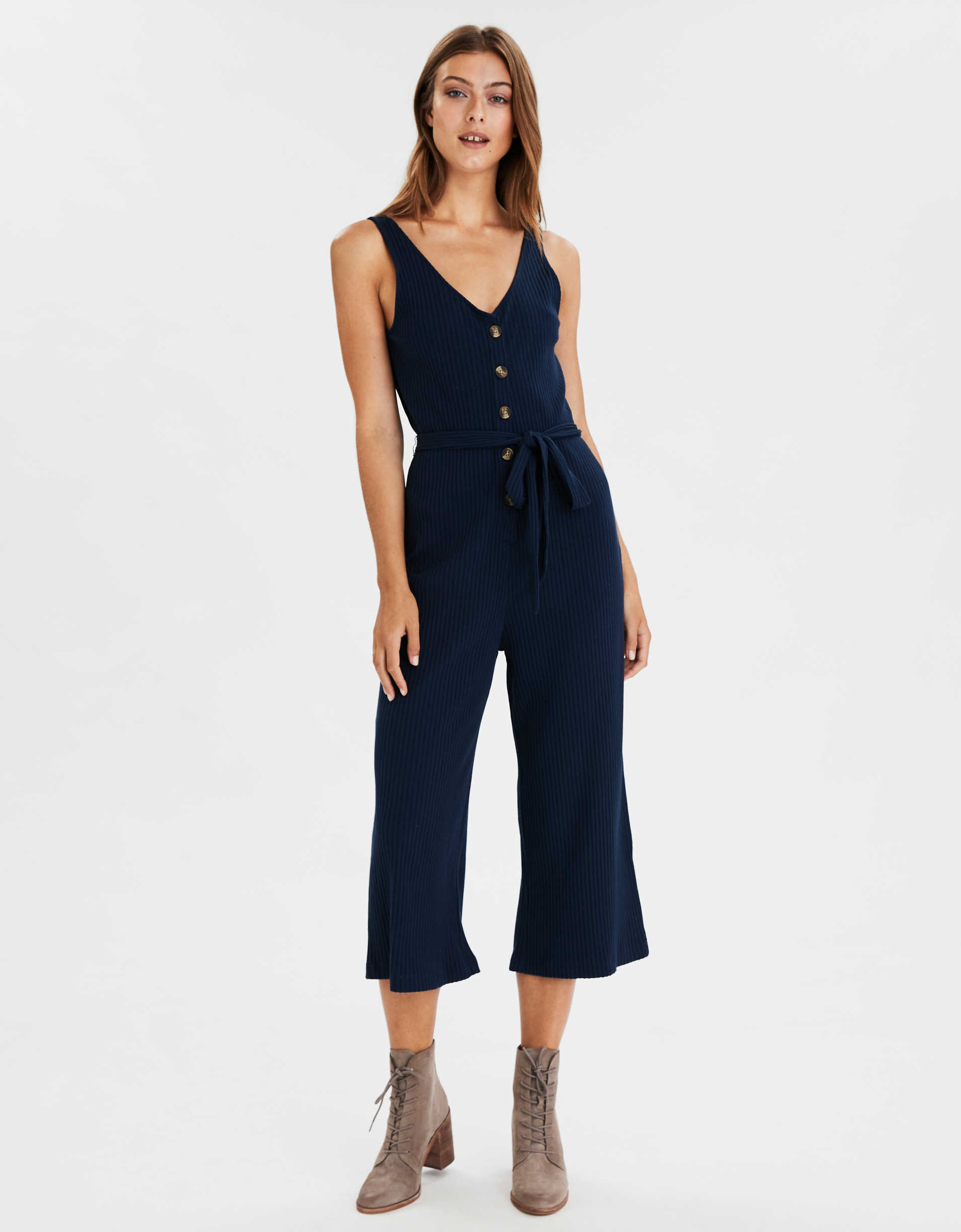AE Sleeveless Wide Leg Jumpsuit