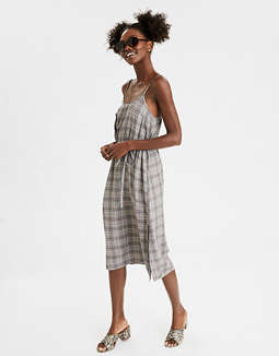 AE Plaid Midi Slip Dress