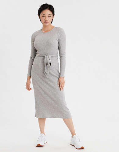 AE Long Sleeve Midi Dress