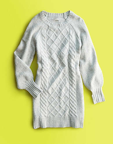 AE Cable Knit Sweater Dress