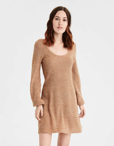 AE Scoop Neck Swing Dress
