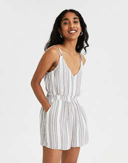 AE Striped Strappy Romper