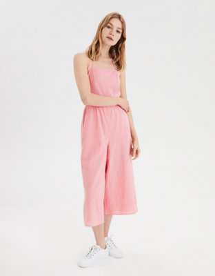 Ae Square Neck Strappy Jumpsuit by American Eagle Outfitters