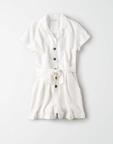 AE Button Front Workwear Romper