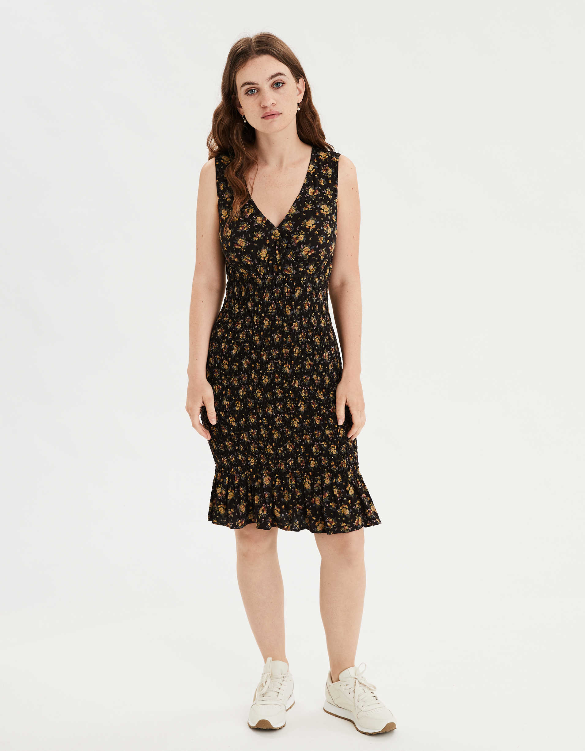 AE Smocked Midi Dress