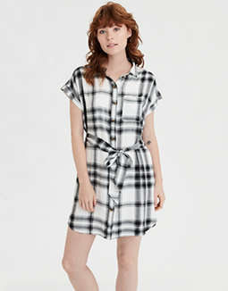 AE Plaid Shirt Dress