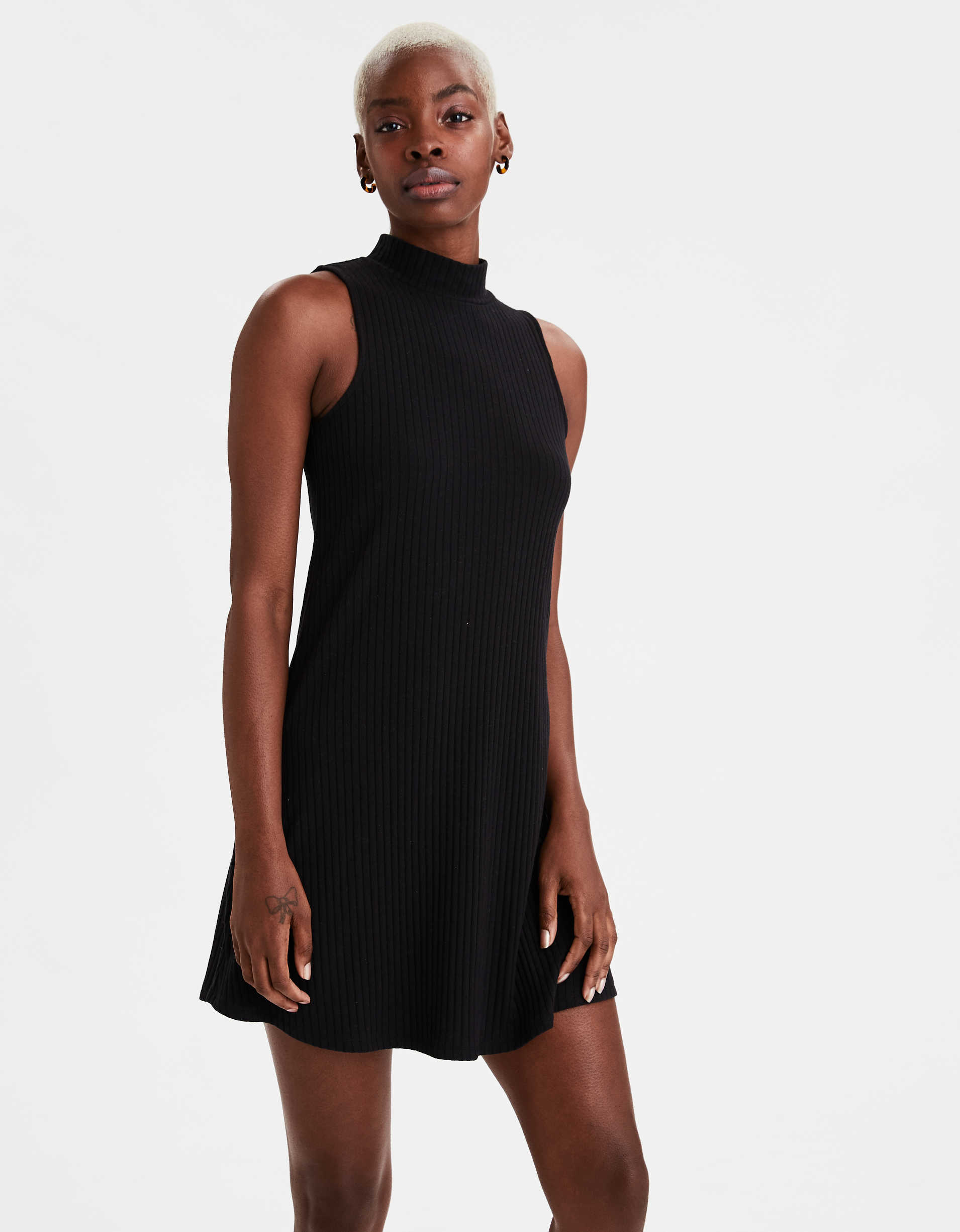 AE Knit Mock Neck Dress