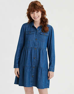 AE Long Sleeve Shirt Dress