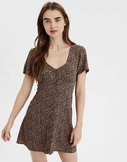 AE Leopard Button Front Dress