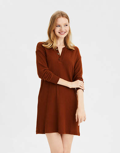 AE Knit Henley Mini Dress
