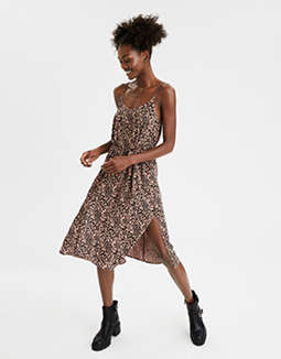 AE Leopard Midi Slip Dress