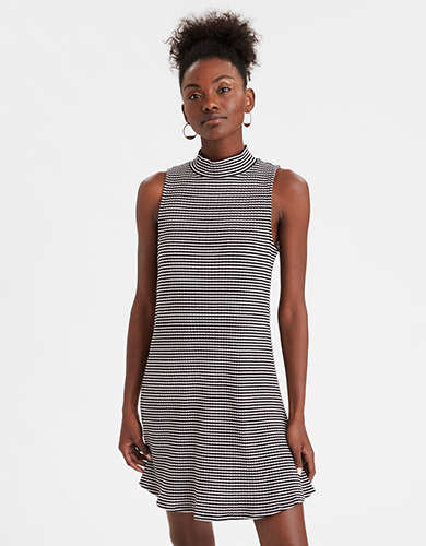 AE Striped Mock Neck Dress