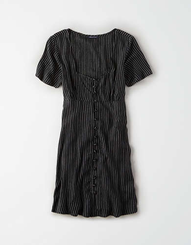 AE Striped Button Front Dress
