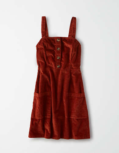 AE Square Neck Overall Dress