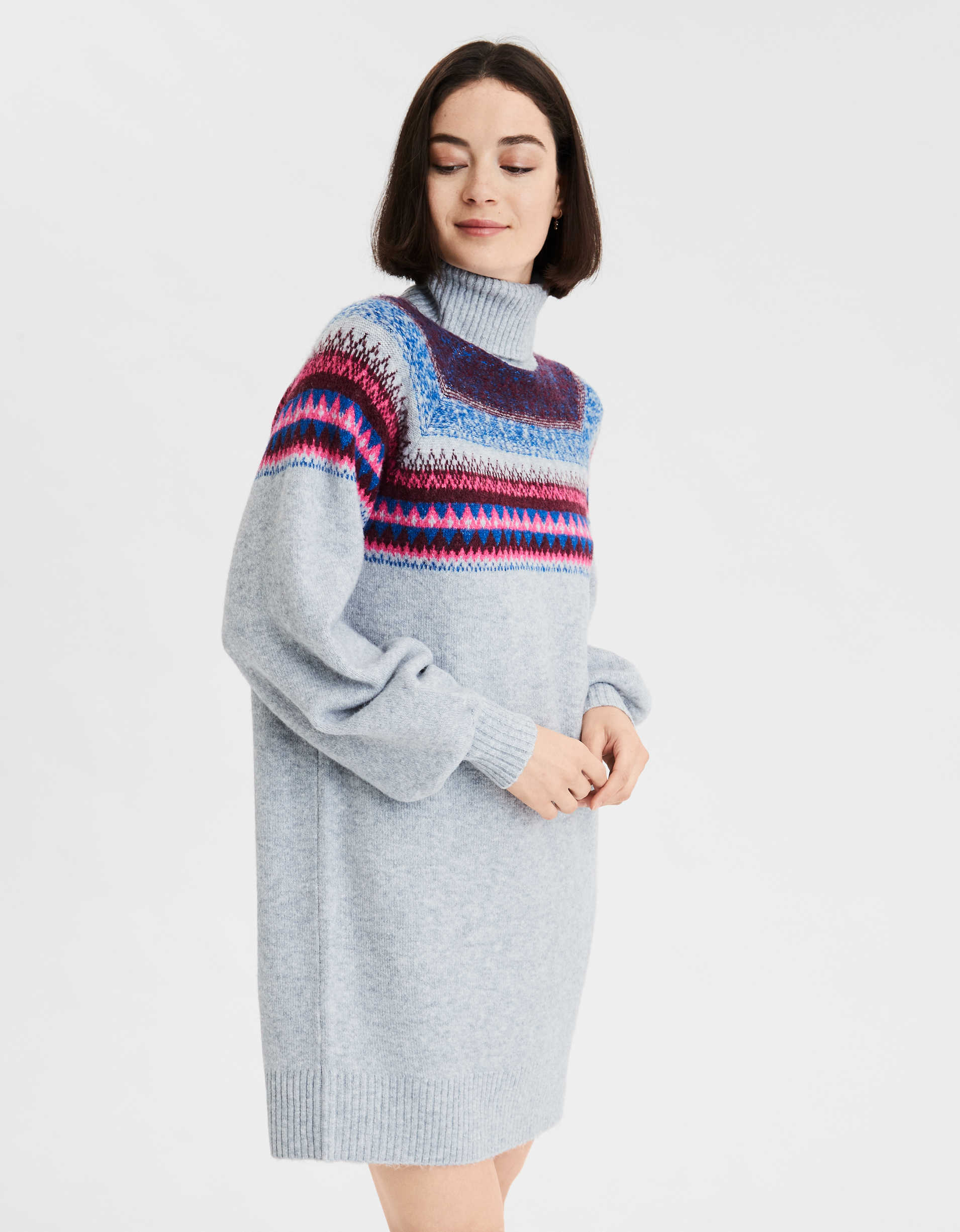 AE Fair Isle Turtleneck Sweater Dress