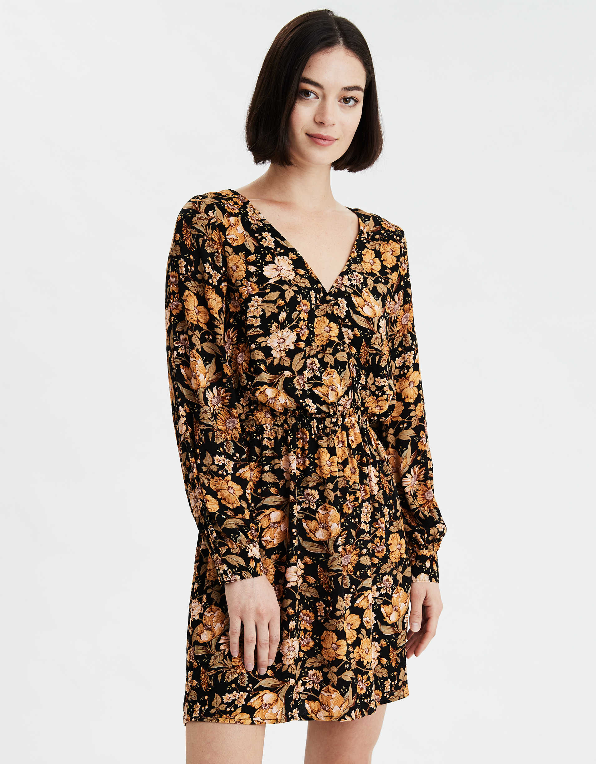 AE Long Sleeve Wrap Dress