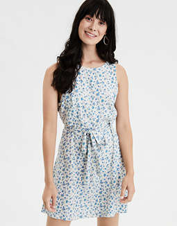 AE Floral High Neck Dress