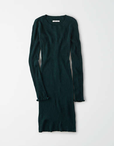 AE Ribbed Bodycon Sweater Dress