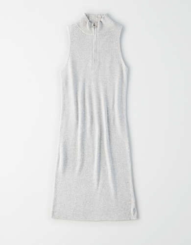 AE Quarter Zip Bodycon Sweater Dress