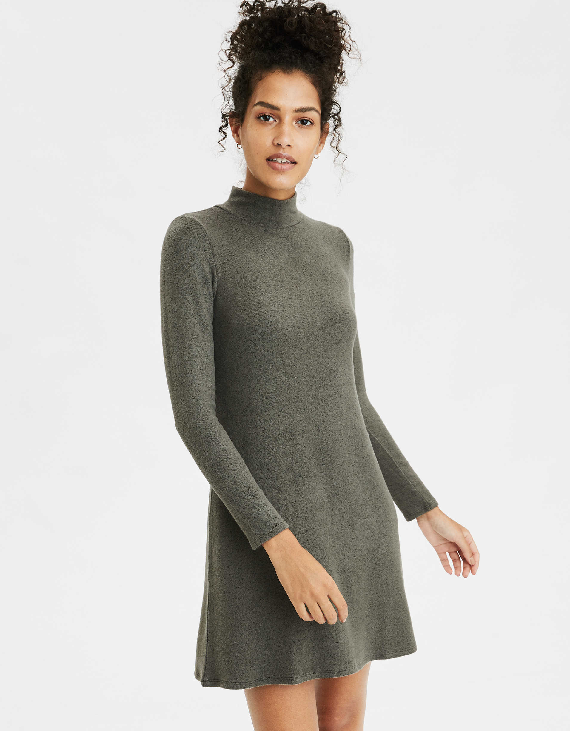 AE Soft Plush Turtleneck Dress