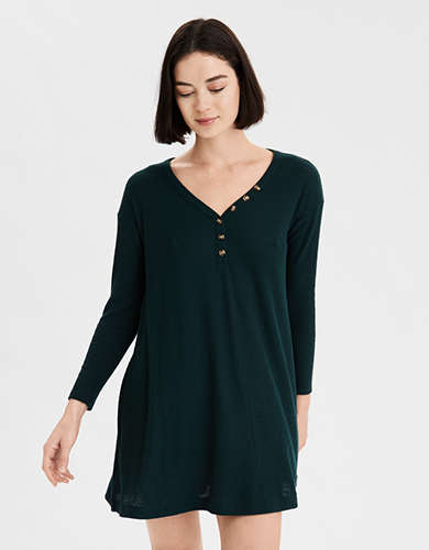 AE Plush Long Sleeve Swing Dress