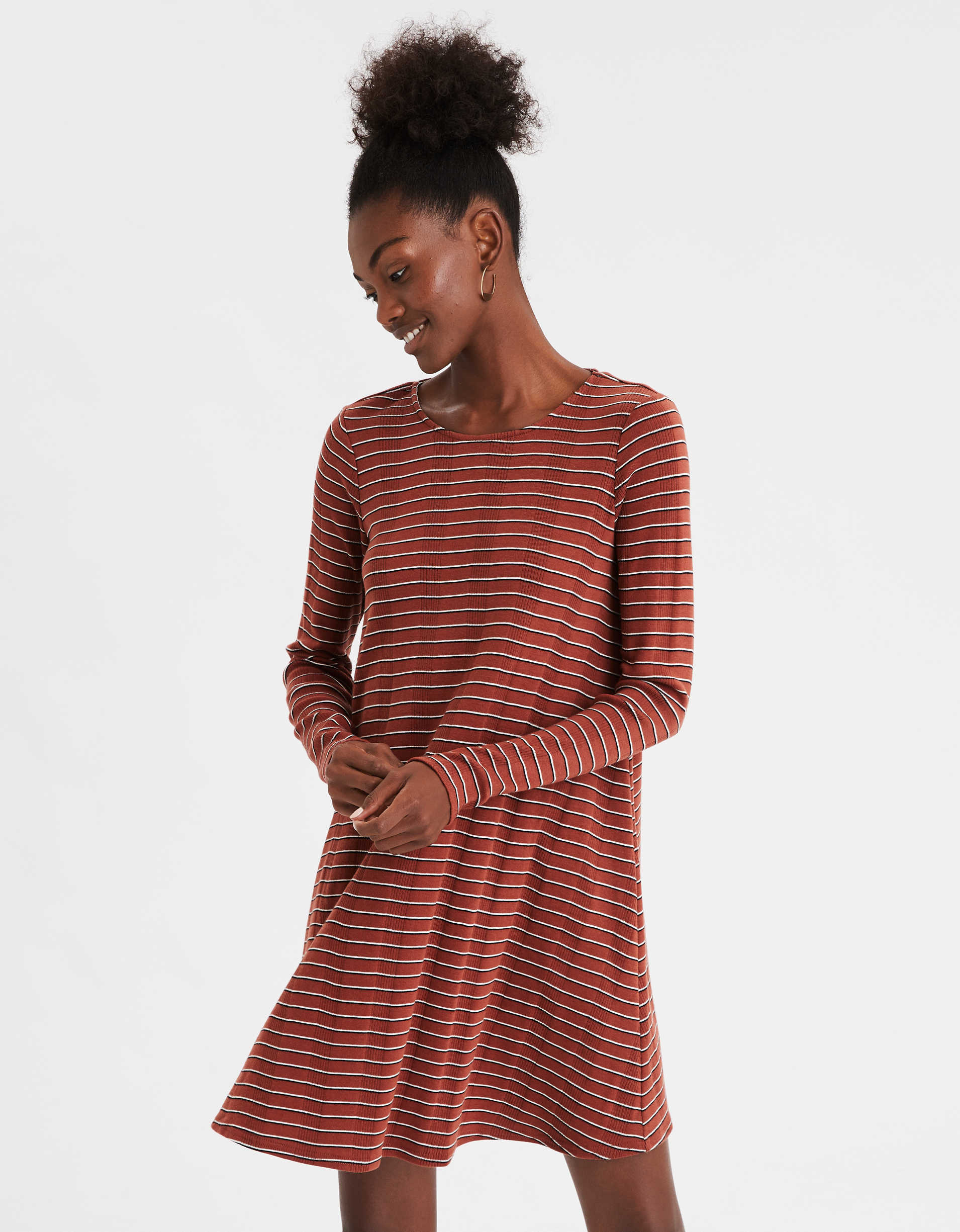 AE Long Sleeve Swing Dress