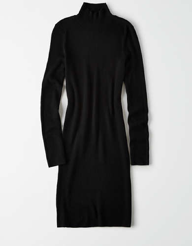 AE Ribbed Mock Neck Sweater Dress