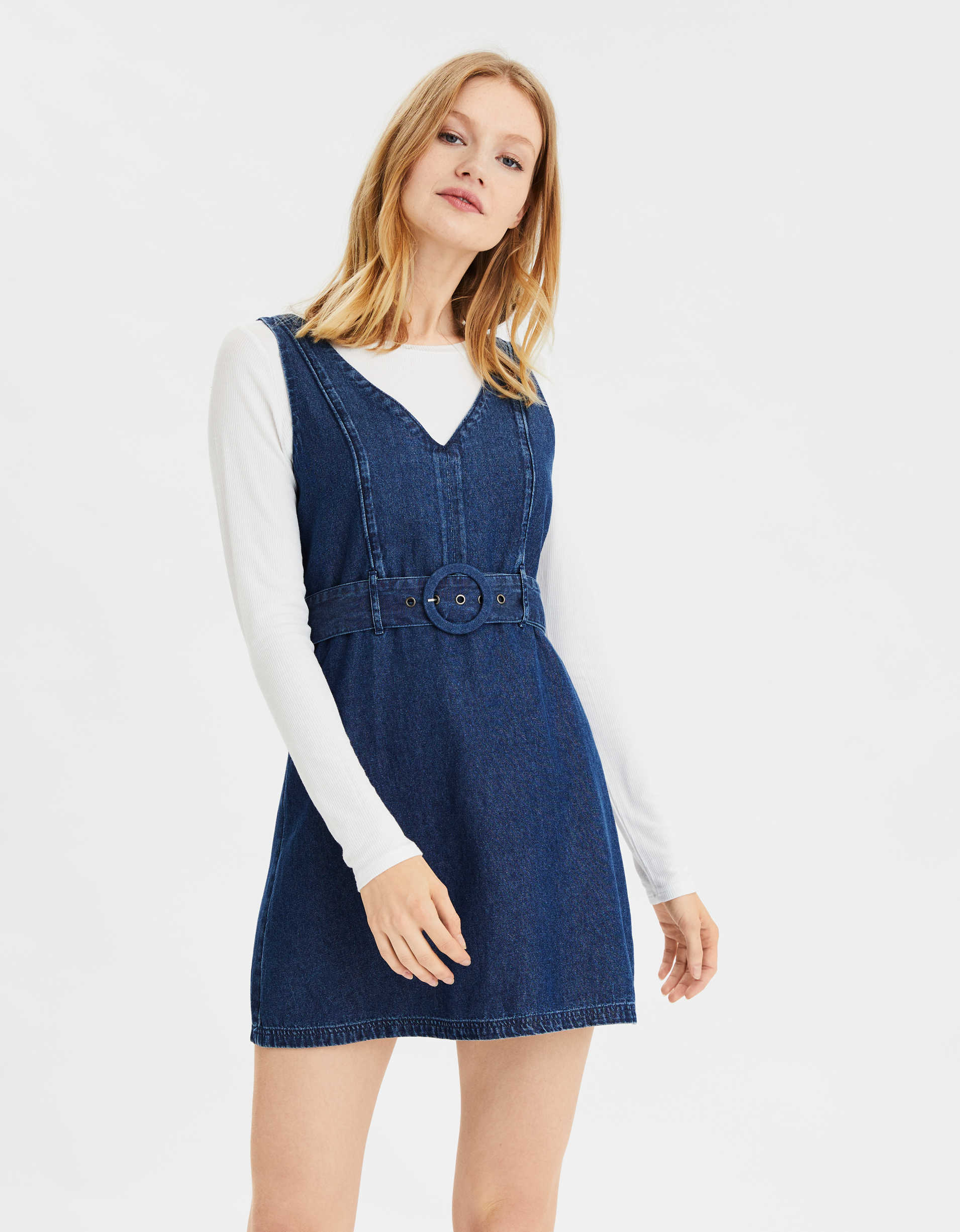 AE Denim Belted Mini Dress