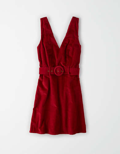 AE Corduroy Belted Mini Dress