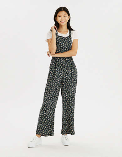 AE Printed Square Neck Jumpsuit