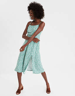 AE Printed Strappy Midi Dress