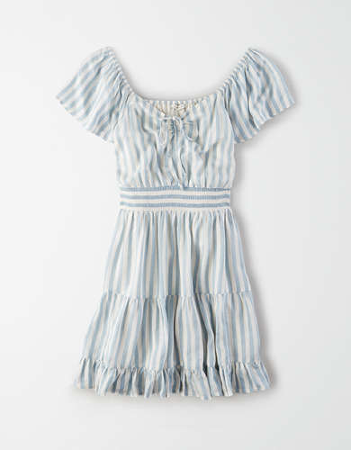 AE Short Sleeve Tiered Mini Dress