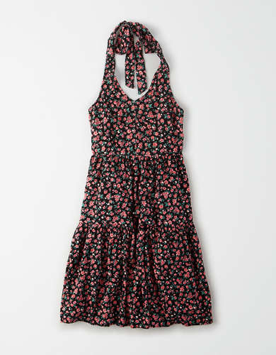 AE Printed Halter Babydoll Dress