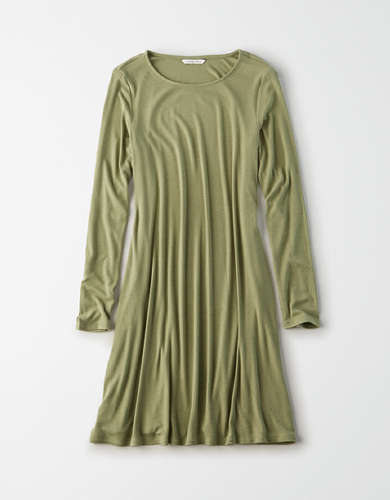 AE Long Sleeve Shift Dress