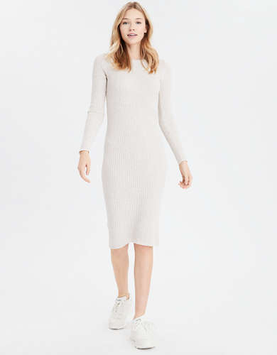 AE Bodycon Midi Sweater Dress