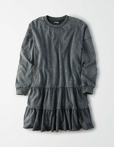 AE Fleece Long Sleeve Tiered Dress