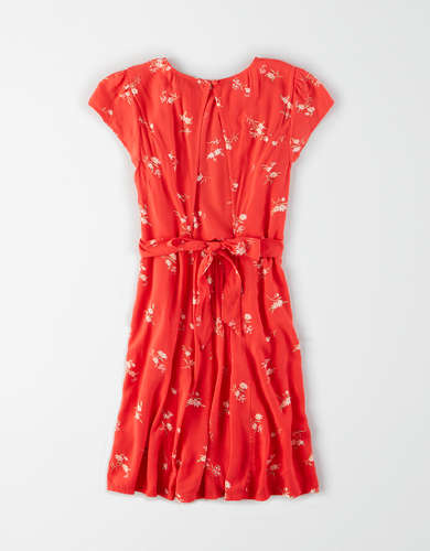 AE Printed High Neck Dress