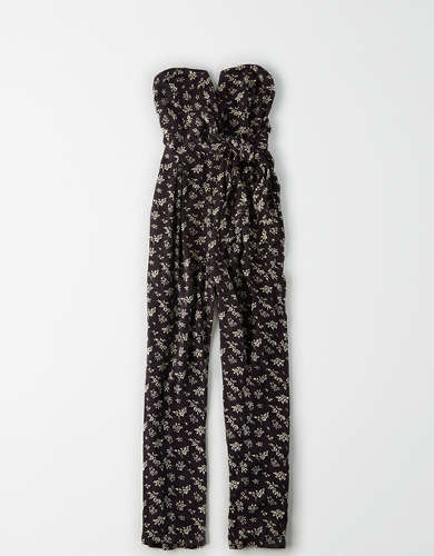 AE Printed Wrap Front Tube Jumpsuit
