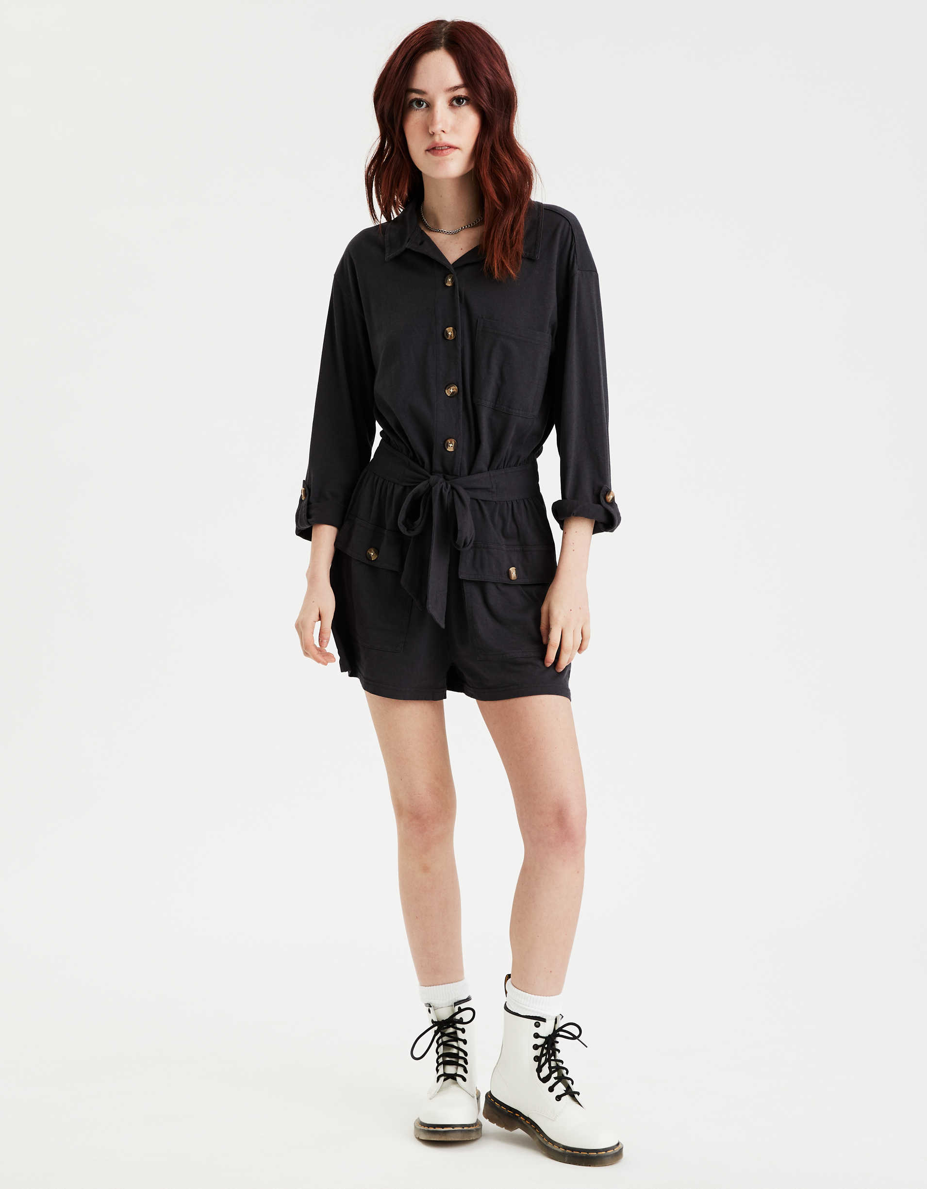 AE Long Sleeve Utility Romper